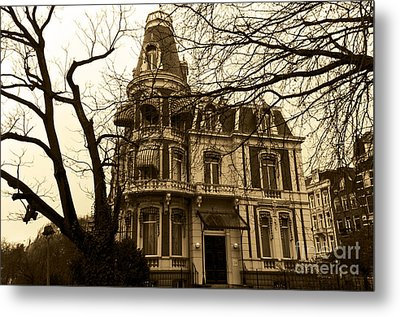 The Corner House Metal Print by Pravine Chester