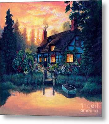 The Cottage Metal Print by MGL Studio - Chris Hiett