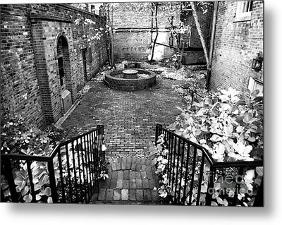 The Courtyard At The Old North Church Metal Print by John Rizzuto