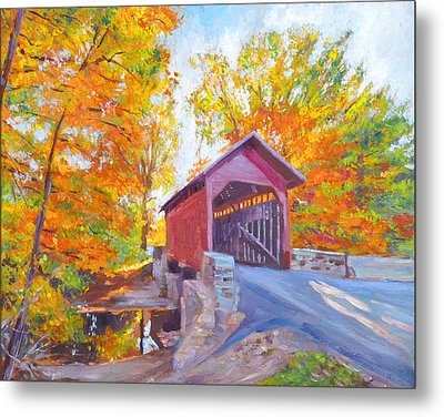 The Covered Bridge Metal Print by David Lloyd Glover