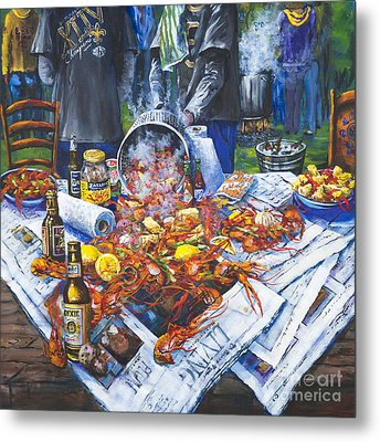 The Crawfish Boil Metal Print by Dianne Parks