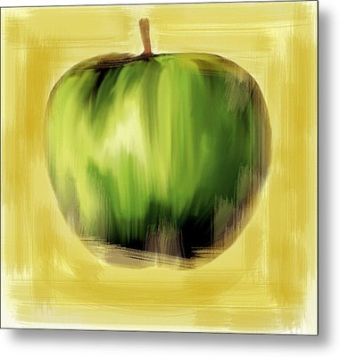 The Creative Apple The Beatles Metal Print by Iconic Images Art Gallery David Pucciarelli