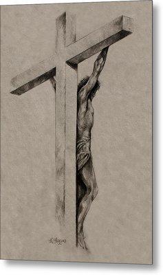 The Cross Metal Print by Derrick Higgins