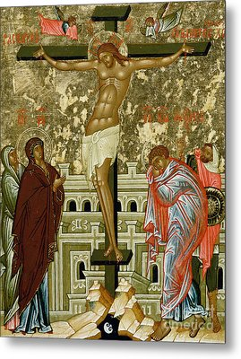 The Crucifixion Of Our Lord Metal Print by Novgorod School