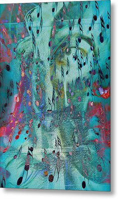 The Crying Tunes  Metal Print by JC Photography and Art