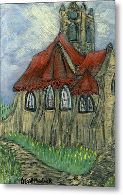 The Curch  Metal Print by Oscar Penalber