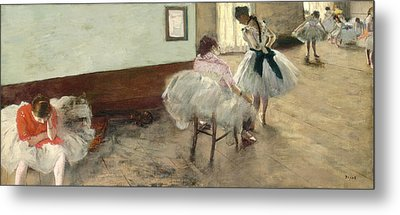The Dance Lesson Metal Print by Edgar Degas