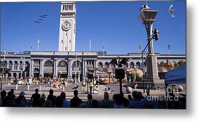 The Day The Circus Came To Town Again Dsc1745 Long Metal Print by Wingsdomain Art and Photography