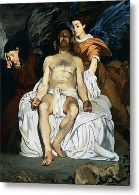 The Dead Christ And Angels Metal Print by Edouard Manet