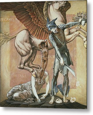 The Death Of Medusa I, C.1876 Metal Print by Sir Edward Coley Burne-Jones