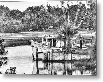 The Debbie-john Shrimp Boat Metal Print by Scott Hansen