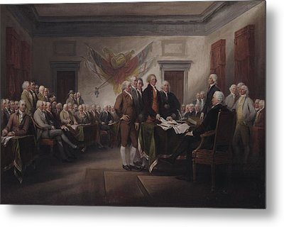 The Declaration Of Independence, July 4, 1776 Metal Print by John Trumbull