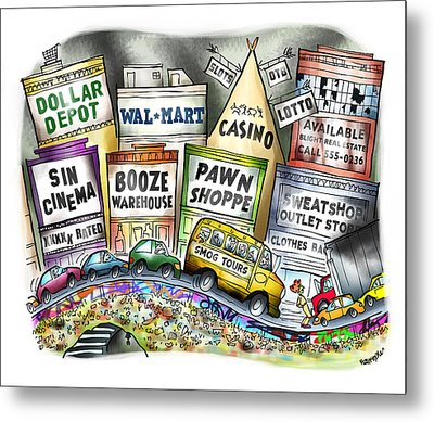The Delights Of Modern Civilization Metal Print by Mark Armstrong