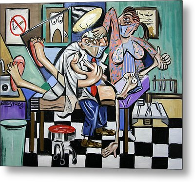 The Dentist Is In Metal Print by Anthony Falbo
