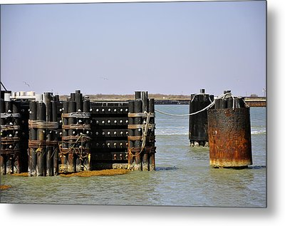 The Docks Metal Print by Cherie Haines