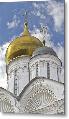 The Domes Of Archangel Cathedral Metal Print by Elena Nosyreva