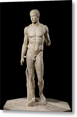 The Doryphoros Of Polykleitos Metal Print by Roman School