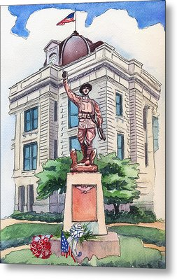 The Doughboy Statue Metal Print by Katherine Miller
