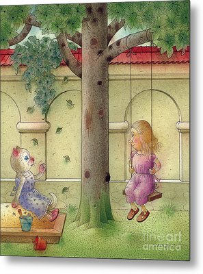 The Dream Cat 14 Metal Print by Kestutis Kasparavicius