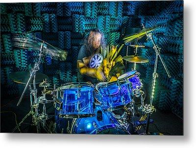 The Drummer Metal Print by David Morefield