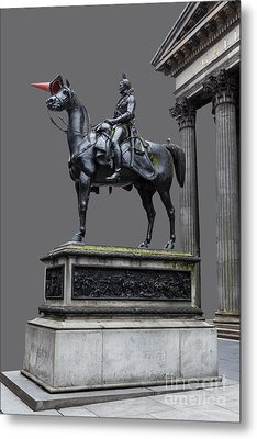 The Duke Of Wellington Goma  Grey Metal Print by John Farnan