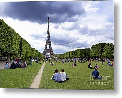 The Eiffel Tower And The Champ De Mars. Paris. France Metal Print by Bernard Jaubert