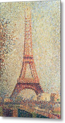 The Eiffel Tower Metal Print by Georges Pierre Seurat