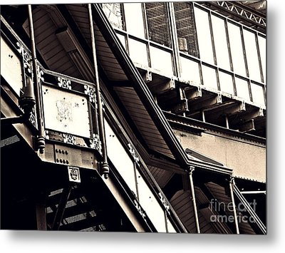 The Elevated Station At 125th Street 2 Metal Print by Sarah Loft
