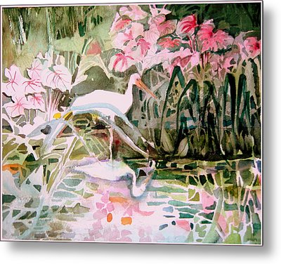 The Elusive Egret Metal Print by Mindy Newman