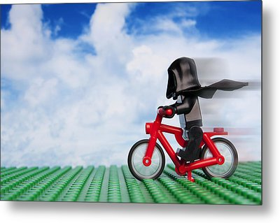 The Emperor's New Bike Metal Print by Samuel Whitton