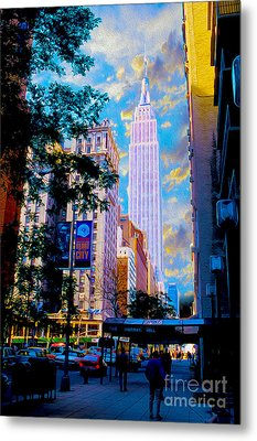 The Empire State Building Metal Print by Jon Neidert