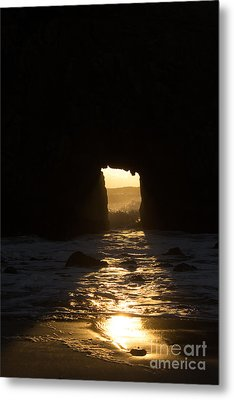 The End Of A Day Metal Print by Suzanne Luft