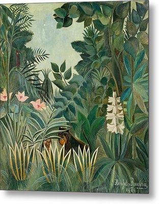 The Equatorial Jungle Metal Print by Henri Rousseau