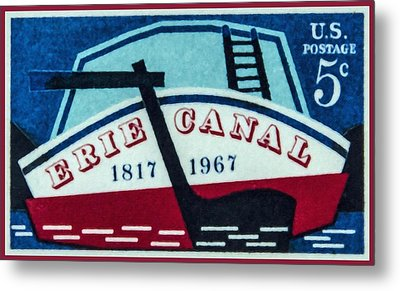 The Erie Canal Stamp Metal Print by Lanjee Chee