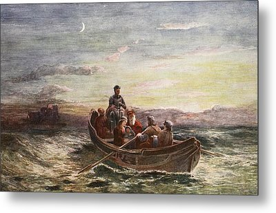 The Escape Of Mary Queen Of Scots Metal Print by Francis Danby