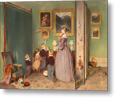 The Evening Prayer 1839 Metal Print by Mountain Dreams