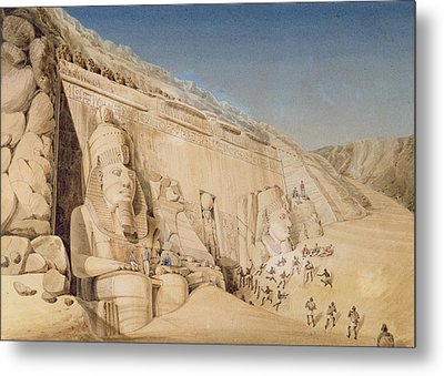 The Excavation Of The Great Temple Metal Print by Louis M.A. Linant de Bellefonds
