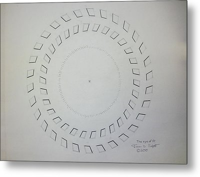 The Eye Of Pi Metal Print by Jason Padgett