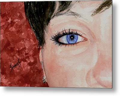 The Eyes Have It - Nicole Metal Print by Sam Sidders
