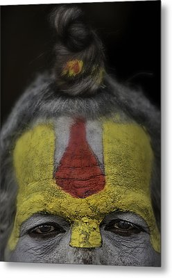 The Eyes Of A Holy Man 2 Metal Print by David Longstreath