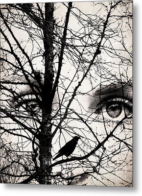 The Eyes Of The Raven Metal Print by Jacqueline Moore