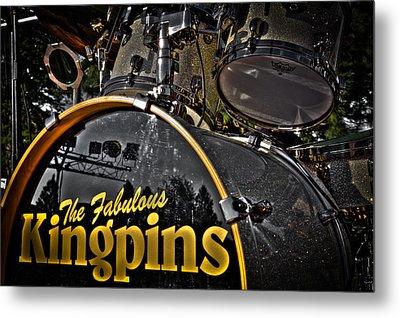 The Fabulous Kingpins Drums Metal Print by David Patterson