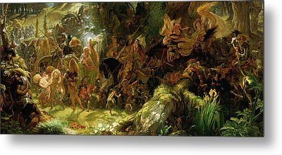 The Fairy Raid Metal Print by Sir Joseph Noel Paton