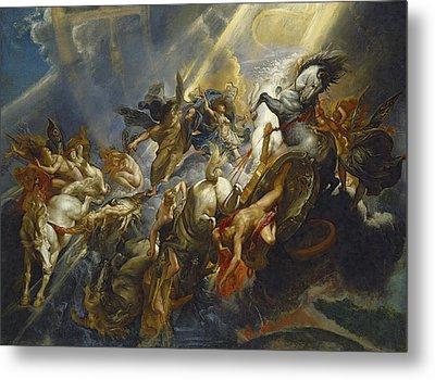The Fall Of Phaeton Metal Print by  Peter Paul Rubens