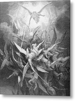 The Fall Of The Rebel Angels Metal Print by Gustave Dore