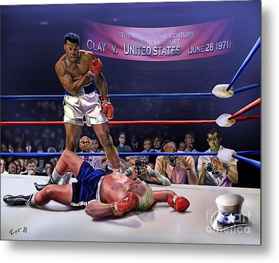 The Fight Of The Century - June 28 1971 C-vs-us Metal Print by Reggie Duffie