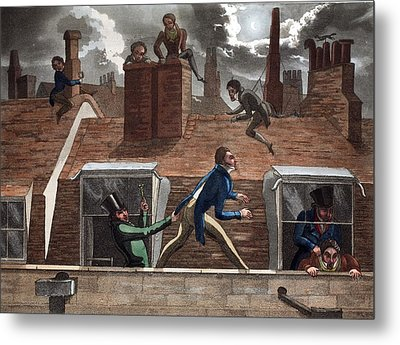 The Finishing Bore, Illustration Metal Print by Daniel Thomas Egerton