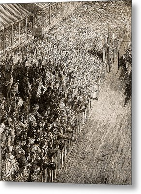 The Finishing Line Of The Derby Metal Print by Gustave Dore