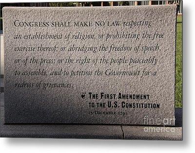 The First Amendment Metal Print by Gayle Johnson