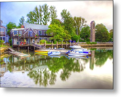 The Fishing Village Metal Print by Lanjee Chee